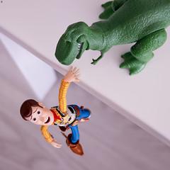 Rex Help Me!!! (Jezbags) Tags: toystory woody rex slinky toystory4 toy toys revoltech hottoys canon canon80d 80d 100mm macro macrophotography dreams pixar disney help