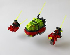 M:Tron skimmers (The Brick Artisan) Tags: mtron space spaceship spacecraft classic lego magnet 90s