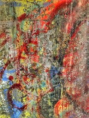 Veggmalt -|- Wall art (erlingsi) Tags: erlingsi iphone erlingsivertsen abstract wall vegg colours
