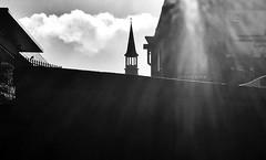 An Mhaighdean Mhuire Chorónaithe, Baile na mBocht (1962) (Rhisiart Hincks) Tags: túirín turret twred duagwyn bw dubhisbán countycork contaechorcaí bailenambocht mayfield eglwys church eaglais scáthchruth silwét silhouette