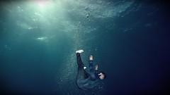 Feel Like I'm Drowning (foodie_guy2019) Tags: drowning ocean light darkness sea water ray blue deep