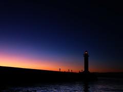 Evening Fishing 3 (sakemoge) Tags: sea fishing osaka night sunset lighthouse silhouette fisherman evening panasonic g9 panaleica