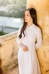 IMG_1690 (Call me CHOW) Tags: happy dress beauty blond female long hair carefree young women wavy fashion model beautiful people portrait ao dai aodai girl hanoi vietnam sunny yearbook smilling smile sunset lookbook pretty posing face