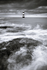 Penmon Lighthouse (photographin_uk) Tags: penmon lighthouse north wales angelsey black white bw