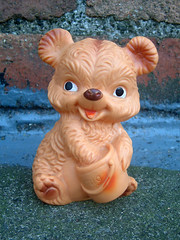 Honig Bear (The Moog Image Dump) Tags: honig bear vintage toy figure honey cute kawaii soft vinyl squeaker squeaky