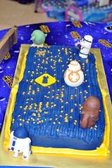 Cub Scouts Blue & Gold Ceremony Star Wars Cake 13 (rikkitikitavi) Tags: custom cake dessert vanilla chocolate buttercream fondant handsculpted handmade starwars r2d2 yoda stormtrooper chewbaca bb8 cubscout blueandgoldceremony bluegoldbanquet