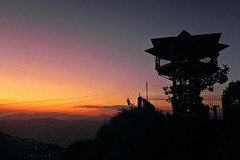 Watchtower in the Sunset! (Abeer!) Tags: abeer abeerbarman architecture blue bengal black landscape dusk darjeeling dark fall green golden himalaya himalayas highaltitude hill india kurseong leaves mountain nature overtherainbow object orange portrait red sky scenery sunset sunlight sunshine tree trees valley vale village city town watchtower westbengal yellow eaglescrag eagles crag magenta pink wires park silhouette watch tower