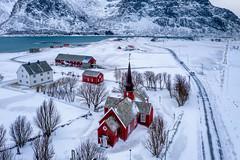 Lofoten Norway (Eric Zumstein) Tags: norway flakstad nordland snow church bestcapturesaoi elitegalleryaoi