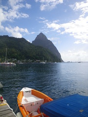 Petit Piton, from the Soufriere docks - St Lucia (h_savill) Tags: 2019 february feb holiday travel vacation tourist trip explore worldwide st lucia caribbean antilles windward isle soufriere piton view landscape beach sea water marine anse chastanet ansechastanet ocean boat stlucia