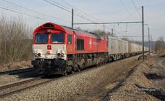 Class 66 CROSSRAIL DE 6302 Ligne 24 Warsage - Février 20182018-03-01 14-27-21_0087 mod et signée (vincent.lempereur) Tags: crossrail classe66 class66 goederentrein train trainmarchandise trein locomotive locomotivediesel