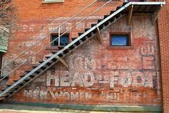 from head to foot (David Sebben) Tags: ghostsign faded painted advertising pella iowa head foot