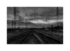 2019-Lt-Nb-2733 (thierry lathoud) Tags: tala lathoudthierry noiretblanc blackandwhite blur icm streetphotography station train railway absence dereliction