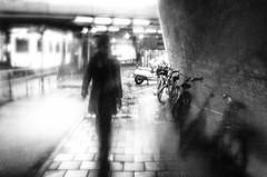 my body consists of 75 percent water (Gerrit-Jan Visser) Tags: amsterdam blackandwhite bnw rain streetphotography vague haze silhouette shade phantom subway metro