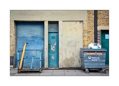 Fat Door, Thin Door, No Door ... (junepurkiss) Tags: doors wasterecyclingbin londonstreets london