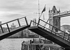 Tower Bridges (alicejack2002) Tags: london towerbridge thames bw monochrome leica river