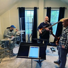Rainy day rehearsal for the worship band! We can't wait to sing with the church tomorrow! Father You Are All We Need, In Tenderness, Here I am to Worship, Son of David, You Are My King, Before the Throne of God Above. #sundaysongs (rcokc) Tags: rainy day rehearsal for worship band we can't wait sing with church tomorrow father you are all need in tenderness here i am son david my king before throne god above sundaysongs