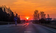 """""""Hell sunrise on the highway - Põrgulik päikesetõus maanteel !"""" 👹🌞🚗🚒 (Igor """"Ixa"""" Nael) Tags: päike päikesetõus sun sunrise sunset maantee tee route street taevas sky pilved clouds põrgulik hell blood haighaway canon"""