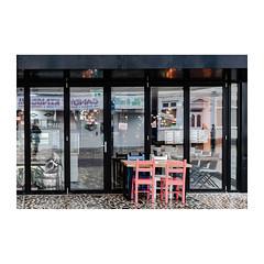 Al Fresco (John Pettigrew) Tags: chairs lines tamron d750 imanoot banal doors closed nikon reflections restaurant table windows angles johnpettigrew mundane