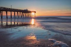 Ocean City Sunrise (Brentg33) Tags: ifttt 500px beach beaches sunrise sun shore shoreline nj new jersey ocean city sony alpha bealpha long exposure pier reflection reflections no people landscapes landscape sand tranquility nature pics photograph blue orange morning ocnj