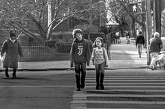 Circumstance II (Capitancapitan) Tags: neury luciano manhattan nyc park streetphotography boys girls people pentax black white mundo rock pop urim y tumim walking circumstances