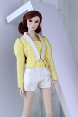 Fashion Royalty Giselle Optic Illusion (Regina&Galiana) Tags: fashionroyalty fashion fashiondoll doll barbie integritytoys fr3 nuface vanessa kyori giselle yellow