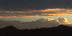 Between Fronts (armct) Tags: weather front clouds sky summer sunset goldcoast airport radardome geodesic radar horizon skyline border ranges foothills silhouette contrast patterns