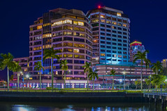 Phillips Point Towers, 777 S Flagler Drive, West Palm Beach, Florida, USA, Architect: Hellmuth Obata & Kassabaum / Completed: 1986 / Architectural Style: Modernism, Building Heights: (East Tower() 154.82 ft (West Tower) 226.27 ft, / Floors:  13 & 19 (Photographer South Florida) Tags: westpalmbeach palmbeachcounty city cityscape urban downtown skyline southflorida density centralbusinessdistrict skyscraper building architecture commercialproperty cosmopolitan metro metropolitan metropolis sunshinestate realestate highrise royalparkbridge townofpalmbeach palmbeach clearlake phillipspointtowers 777sflaglerdrive florida usa architecthellmuthobatakassabaumcompleted1986architecturalstylemodernism buildingheightseasttower15482ft westtower22627ft floors1319