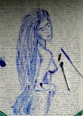 Quédate donde te encuentres más a gusto... Pequeños dibujos  en trozos de papel. .  #zaragoza #art #dibujos #drawing #painting #artlovers #dailyart #artoftheday#painter #artofinstagram #draw #ballpen  #portrait #woman #bellezza  #beautifulgirl  #artwork (egc2607) Tags: blue sketch words artwork bluehair artsy tattoo art photooftheday artlovers artoftheday photography bellezza ballpen artist painter painting instaart drawing hairstyle zaragoza fotografia dailyart beautifulgirl portrait dibujos woman artofinstagram draw
