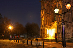 York Minster (robin denton) Tags: yorkminster minster cathedral gothiccathedral cathedralcity deanspark nightphotography nightshot moon york northyorkshire yorkshire churchyard church worship churchofengland