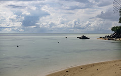 Anse La Mouche / Пляж Анс ла Муш (dmilokt) Tags: природа nature пейзаж landscape море sea пляж beach песок sand пальма palm небо sky облако cloud dmilokt nikon d850