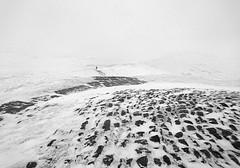 Mam Tor (l4ts) Tags: landscape derbyshire peakdistrict darkpeak snow winter thegreatridge mamtor rushupedge spindrift walker blackwhite monochrome mobilephonecamera sonyxperiaxz