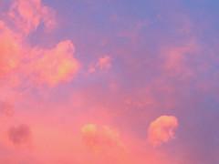 rosa, azzurro e oro per un tramonto di febbraio (guendaeio (orasoloio)) Tags: rosa pink azzurro blue tramonto sunset nuvole clouds nubes sky nwn