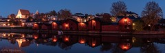Old Porvoo (Pia Räisänen) Tags: suomi finland autumn night longexposure oldtown porvoojoki warehouses reflection river porvooriver porvoo