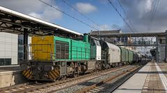 Captrain 1796 storming through Dordrecht (Nicky Boogaard) Tags: dordrecht dordrechtcs railfan railfanning captrain1796 captrain g1206 makde makkiel makdiesel dieselhydraulic