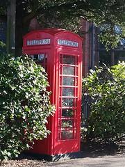 Red phone box (daveandlyn1) Tags: sunshine chesterzoo redbox redphonebox phonebox cheshire chester pralx1 p8lite2017 huawei smartphone psdigitalcamera cameraphone folige shrubs trees
