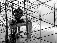 DJ (heinzkren) Tags: schwarzweis blackandwhite bw sw monochrome candid street streetphotography indoor lines music abstract silhouette lounge human geometry modern contemporary hotel mix art modernart disco club technic sound lobby