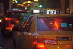 Taxi 1601 Ready for Fare (Jovan Jimenez) Tags: car canon eos rebel t2 nikon 135mm lomography 800 35mm film lomo cinematic night goldenhour taxi cab ais grain seriese eseries bokeh analogue analog