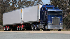 One of Each (1/3) (Jungle Jack Movements (ferroequinologist)) Tags: kenworth kw kenny bowning yass sydney melbourne nsw new south wales k200 hume highway hp horsepower big rig haul haulage freight cabover trucker drive transport carry delivery bulk lorry hgv wagon road nose semi trailer deliver cargo interstate articulated vehicle load freighter ship move roll motor engine power teamster truck tractor prime mover diesel injected driver cab cabin loud rumble beast wheel exhaust double b grunt drt booth wheadons cc