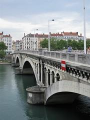 Pont Wilson, Rhône River, Lyon, France (Paul McClure DC) Tags: lyon france july2017 auvergnerhônealpes rhône river architecture historic
