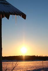 Springtime sun (felix200SX) Tags: sky spring snow ice barn old wood suomi finland sigma 24mm 14 art