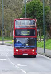 SLN 18465 - LX55EPP - WATLING STREET BEXLEYHEATH - FRI 15TH MAR 2019 (Bexleybus) Tags: bexleyheath kent da7 watling street stagecoach london selkent tfl route 96 adl dennis trident alx400 alexander 18465 lx55epp