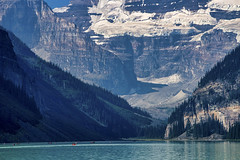 Upper and Lower Victoria Glacier, Alberta (Jim 03) Tags: lake louise banff national park alberta canadian rockies turquoise glacier peaks chateau sky blue water mountains jim03 jimhoffman jhoffman jim wwwjimahoffmancom wwwflickrcomphotosjhoffman2013