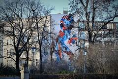 ancient and modern (Harry McGregor) Tags: berlin mural volksparkfriedrichshain park city trees springtime germany harrymcgregor nikon d3300 27 february 2019