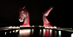 Kelpies Classic! (captures.in.time) Tags: scotland urban city photography culture kelpies kelpie canal scottishcanals britishwaterways andyscott night nightphotography landscape landscapephotography cityscape falkirk grangemouth urbanphotography longexposure canon 1740 lseries visitscotland thisisengineering steel structure sculpture lights lit horse equine waterhorse water le ngm ngc travel travelphotography