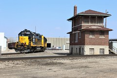 Armourdale transfer (ujka4) Tags: kansascityterminal kct gp39 3935 kansascity ks adamsstreet interlockingtower tower