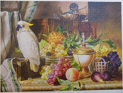 Still Life With Fruit and a Cockatoo, Josef Schuster, Castorland, 3000 pieces (richieinnc) Tags: jigsaw puzzle castorland 3000 josef schuster