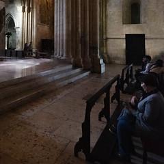 In the Sanctuary-Quiet Contemplation (Gene Mordaunt) Tags: portugal lisbon lisboncathedral sanctuary church contemplation pew architecture chancel nikon810 gothic