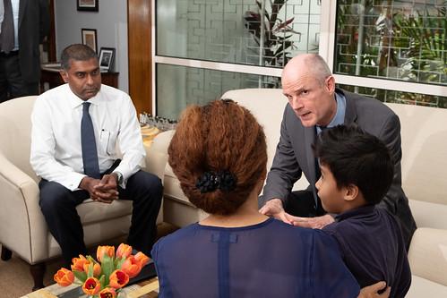 190328 Blok ontmoet Maleisische nabestaanden van slachtoffers MH17bestaanden