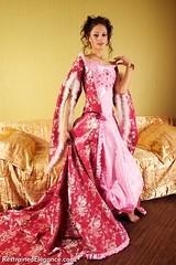 The Countess and the Maid (blacktron2) Tags: ballgown barefoot blonde bondage brunette clothgag delta erotic erotica female glamour hogtie pencilskirt restrainedelegance ropebondage secretarialclothing tanya twogirl ungagged