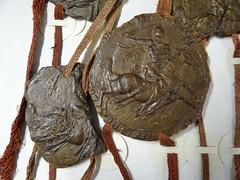 1312 - 'seals of Arnold V, count of Loon and Chiny & Jan II, duke of Brabant and Limburg, Charter of Kortenberg', Stadsarchief, Leuven, province of Flemish Brabant, Belgium (roelipilami (Roel Renmans)) Tags: 1312 charter kortenberg charte zegel seal sceau siegel sello brabant leuven louvain lovaina belgium stadsarchief city archives knight chevalier ritter caballero ridder paard horse cheval pferd caballo caparison heaume great helm topfhelm chain elmo yelmo mail hauberk kettenhemd wyvern shield sword heraldry удостоверяющая печать medieval crest surcoat wappenrock cotte mailles john jan jean ii duc duke herzog hertog loon looz arnold v comte count gulik gerard jülich juliers graf graaf